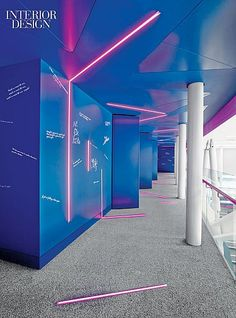 BBC News Office Design,  HOK Completes Their World HQ in London   Celebrity visitors to Radio 1 and 1Xtra are encouraged to tag the painted plasterboard wall of the corridor leading to the studios. #office