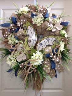 Pastel Wreath, Everyday Wreath, Mesh Wreath, Butterfly, Summer Wreath