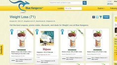 http://www.bluekangaroo.com/boards/weight-loss/32246?th=s:sm,k:video,c:weight_loss_deals  -  Get discounts on the best weight loss and diet plans, weight loss shakes, weight loss teas, detox diets, fat burner pills and more. Use Blue Kangaroo and see what the Roo will find for you!