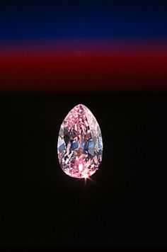 The lively 2.86-carat pear-shaped DeYoung Pink Diamond comes from the Williamson mine in Tanzania.  The Gemological Institute of America (GIA) graded the DeYoung Pink as a natural fancy intense purplish-pink diamond with a clarity grade of SI-1.