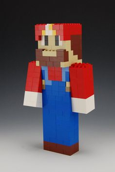 Lego Mario by BrickBum on Etsy