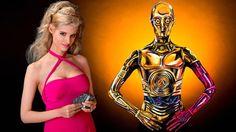 ボディー・ペインティングでC-3POに完全変身する美女 1