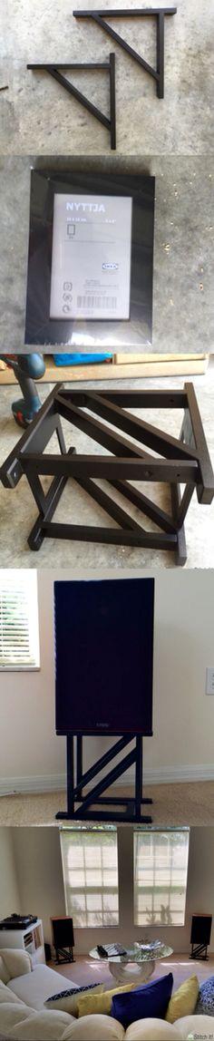 Ikea hacked vintage speaker stands
