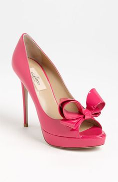 Valentino Couture Bow Platform Pump available at Nordstrom, in the beige color not pink!