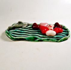 Shark Soap Dish  Tea Bag Holder or Spoon Rest  Ceramic by jillatay