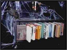 #DIY Haunted shelf prop with moving books! Check out our #halloween store http://deals.dreadcentral.com
