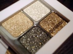 Sparkly eye shadow.