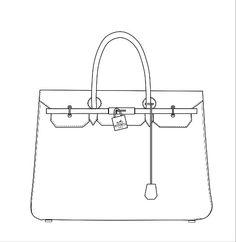Dessins de sacs | Bag pattern | Bags, Picture design, Fashion