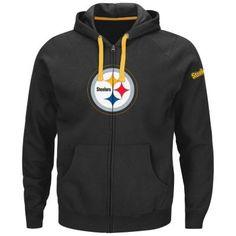 Big & Tall Majestic Pittsburgh Steelers Anchor Point Full-Zip Fleece Hoodie $68.00