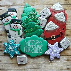 Holiday Cheer, simple, sweet Christmas cookies by Shannon Orr