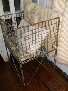Love this standing basket (from must love junk)