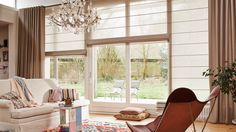Be inspired by Luxaflex® Modern Roman Shades