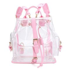 Clear Plastic See-Through Security Backpack Women