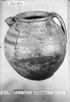 Viking age ceramic jug found in Adelsö, Uppland, Sweden. Historiska museet Sweden.