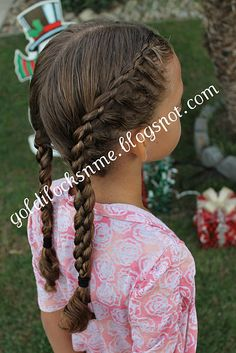 Four Stranded French Braid Hairystyle For Little Girls