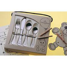 Teddy Barnbestickset 4delar, Villeroy & Boch Kids Dishes, Cutlery Set, Sweet Home, Tray, Tableware, Babies, Design, Children, Kids