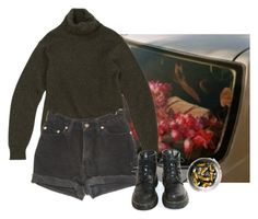 """im the gross teen or somthng"" by loser99 ❤ liked on Polyvore featuring Levi's and Dr. Martens"