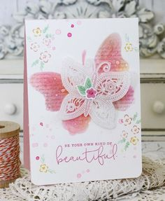 Your Own Kind Of Beautiful Card by Melissa Phillips for Papertrey Ink (February 2016)