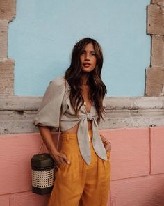 Shop the Look from Rocky Barnes on ShopStyle Shop the Look from Rocky Barnes on ShopStyle Mode Outfits, Fashion Outfits, Girl Outfits, Outfits For Mexico, Moda Fashion, Womens Fashion, Wrap Tops, Mein Style, Street Style