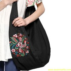#Swanmarks Liebo New 2012 Embroidery Canvas Shoulder Bag