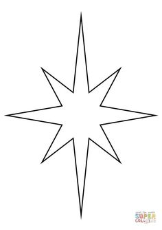 Christmas Star coloring page from Christmas Decoration category. Select from 31983 printable crafts of cartoons, nature, animals, Bible and many more. Printable Christmas Ornaments, Diy Christmas Star, Christmas Stencils, Free Christmas Printables, Star Coloring Pages, Christmas Coloring Pages, Free Printable Coloring Pages, Star Template Printable, Printable Crafts