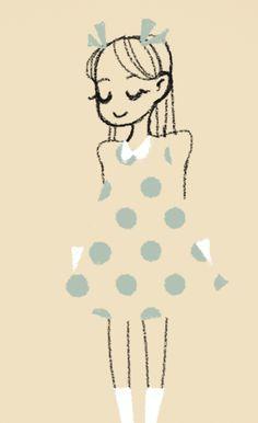 polka dot lady