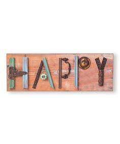 'Happy' Mixed Media Wall Art | zulily