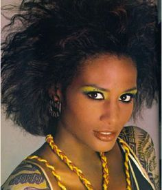 Image result for 1980's hair and makeup african american