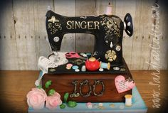 Sally's Sewing Machine Cake - Cake by Sandrascakes
