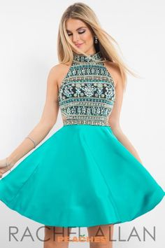 Rachel Allan Beaded A Line Dress 4219