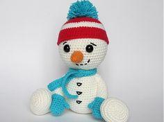 DioneDesign / Háčkovaný snehuliak v rukaviciach- návod