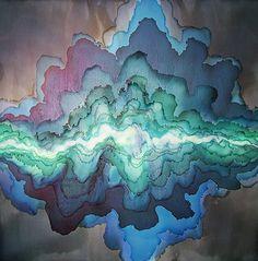 Alluvium, Pigment on Panel by Tobias Tovera