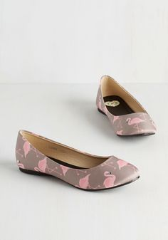 Should I Stay or Should I Flamingo Flat | Mod Retro Vintage Flats | ModCloth.com
