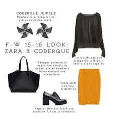 10.15.15 - Our jewels your style Total look Zara silver earrings pendientes plata Windmill molinillo