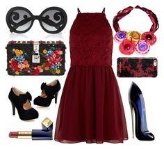 Be Eccentric by virginia-consoli on Polyvore featuring moda, New Look, Dolce&Gabbana, Prada, Michael Kors, Estée Lauder and Carolina Herrera