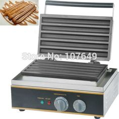 297.00$  Watch here - http://aliid0.worldwells.pw/go.php?t=32715001714 - Free Shipping to USA/Canada/Japan/Mexico 110V 220V Non-stick Electric Commercial Churros Machine Maker Iron Baker 297.00$