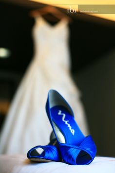 pictures of bridesmaids wearing blue shoes and grey dress | ... blue heels. Mens shoes, boots, women shoes, wedding, and. apc music
