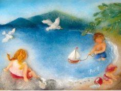 Niels Holgersson-wool picture beach - Summer | Pinterest - Wol ...