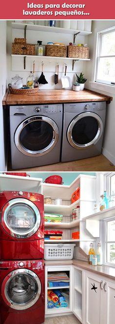 Lavaderos para departamentos pequeños. Ideas para zonas de lavado pequeñas. Cuartos de lavado. #lavaderos #apartamentospequeños