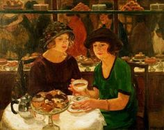 Mabel Frances Layng ~ The Tea Table ~ (English: 1881-1937)