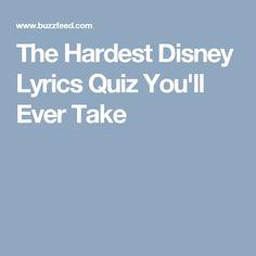 The Hardest Disney Lyrics Quiz You'll Ever Take