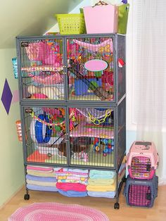 I love this set up for rats so much. I'm definitely going to make similar. Hamsters, Cute Ferrets, Cute Rats, Rodents, Chinchillas, Rat Cage Diy, Pet Rat Cages, Diy Guinea Pig Cage, Chinchilla Cage