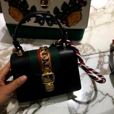 Mini Sylvie Black RM7,980 ❤❤❤ it? Order now. Once it's gone, it's gone! Just WhatsApp me +44 7535 715 239, Erwan.  Click my account name for other great items. #l2klGucci #l2klGucci #l2klGucci