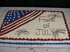 Fourth of July Sheet Cake Ideas Make cake decoration and cake baking easy with these cake tins.