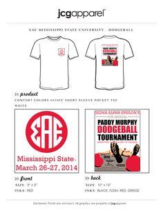 Sigma Alpha Epsilon dodgeball tournament Paddy Murphy, Sigma Alpha Epsilon, Custom Design Shirts, Greek Apparel, Mississippi State, Sorority And Fraternity, Greek Clothing, Comfort Colors, Sports