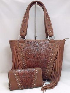 Montana West Trinity Ranch Concealed Carry Purse Wallet Set Leather Handbag NWT #MontanaWest #ShoulderBag