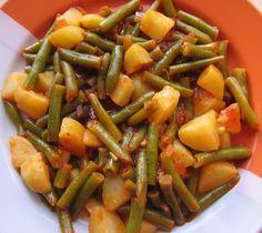 Grüne Bohnen nach griechischer Art