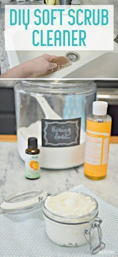 This DIY Soft Scrub Cleaner can be used in your kitchen and bathroom, and is so easy to make with a few household ingredients. It will get your sink, bathtub, scratched dishes, pots and pans and even your stove top clean in minute. It's the most amazing multi-purpose cleaner you can make!