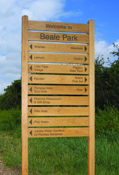 Beale Park wooden ladder sign from Fitzpatrick Woolmer Environmental Signs, Park Pavilion, Wooden Ladder, Little Tikes, Water Garden, Exhibitions, Signage, National Parks, Little Tykes