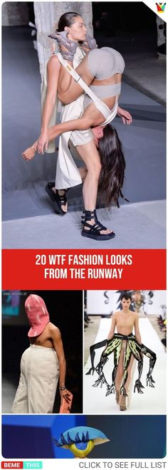 20 WTF Fashion Looks From The Runway #wtf #fashionfails #funnyfashion #epicfail #photos #designers #clothing #models #bemethis